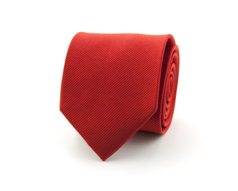 Stropdas effen polyester | Rood