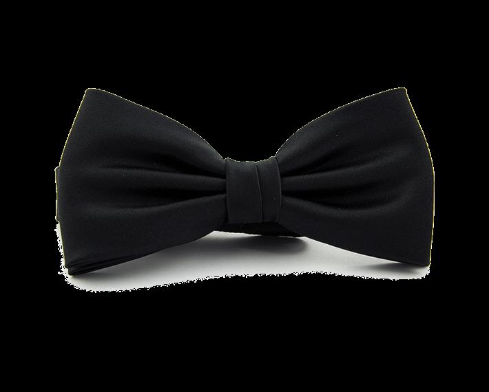 Zwarte strik polyester zwart