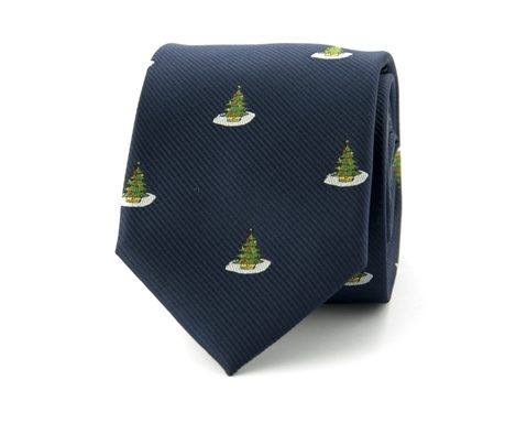 Kerststropdas kerstboom | Blauw