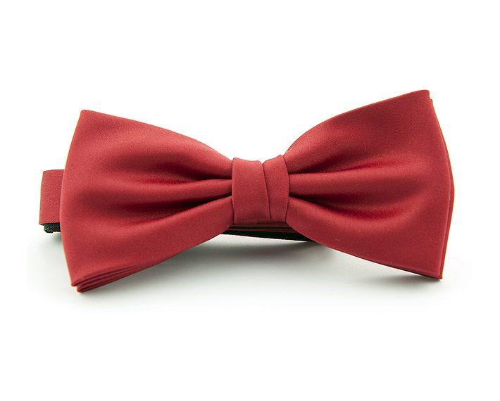 Midden rode polyester strik