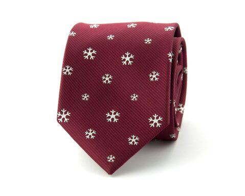 Kerststropdas sneeuwvlok | Rood