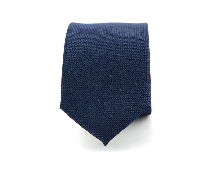 100% zijde marineblauwe stropdas luxe