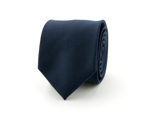 Stropdas effen polyester   Marineblauw